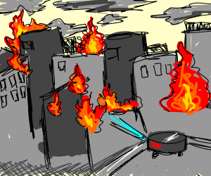 Roomba Burns Down City