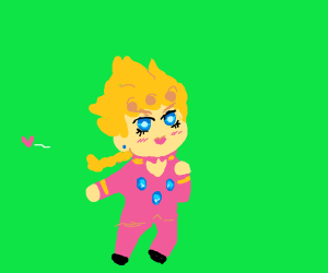 Giorno runs from a heart