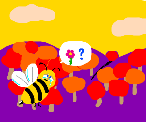A crying bee