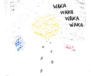 Pacman chases you through a snow storm