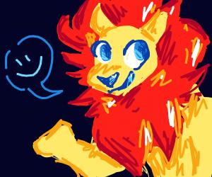 Charismatic lion