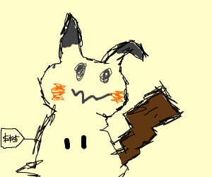 The price tag is still on Mimikyu's costume.