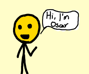 Yellow man named oscar