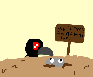 trench crow has rock