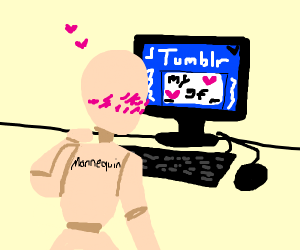 Mannequin finds love on tumblr