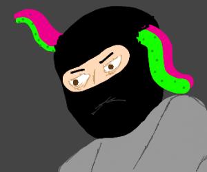 Burglar has tentacles bursting from his head