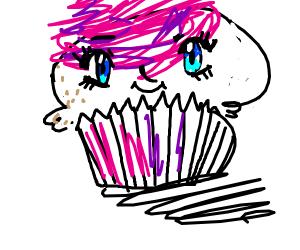 Fat cupcake anime girl