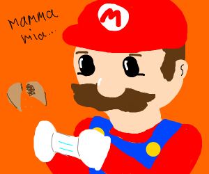 Mario reads a VERY strange fortune cookie