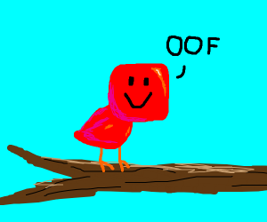 "Red Bird Going ""OOF"""