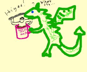 dragon finds ninja in his coffee