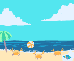 crab beach party