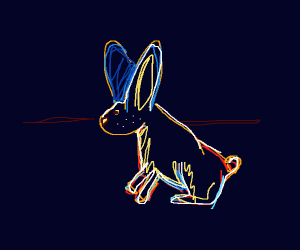 colorful rabbit