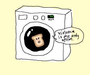 Radical bread in washing machine