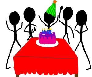 stickman birthday party