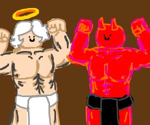 Buff angel vs Buff demon