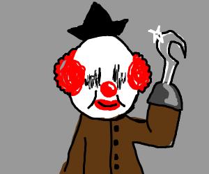 Blind clown-pirate