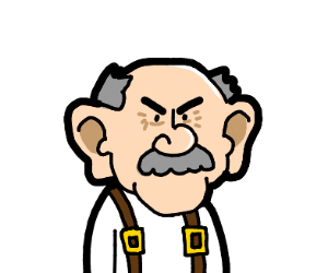 Angry old man