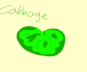 Aw. My cabbage is a bean shape. :C
