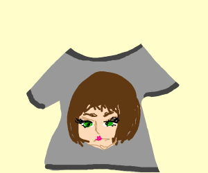 Girl with green eyes shirt