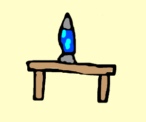 Lava lamp on a table
