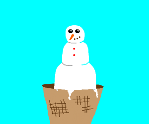 Snowman Icecream cone