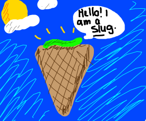 slug on ice cream cone