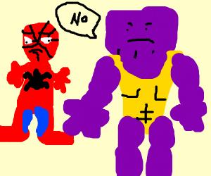 Spiderman is sad Thanos disagrees