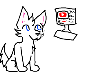 Dog watching Youtube