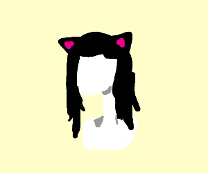 A catgirl wig