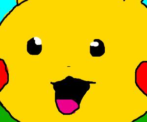 Pikachu, real close up