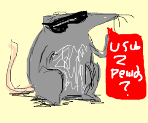 Cool rat asks if youre subscribed to pewdipie