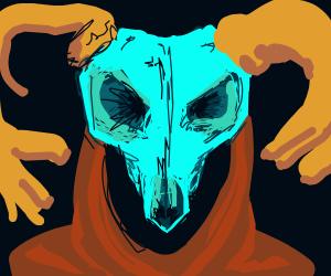 Death Wearing A Skull