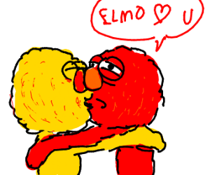Yellmo Makeouts With Elmo
