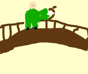 archer on bridge