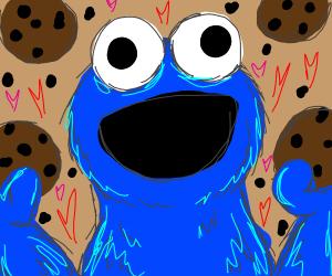 cookie monster loves cookies