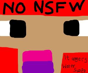 Watersheep warns kids about NSFW