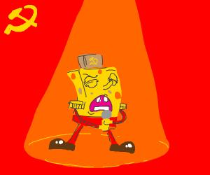 Spongebob singing the anthem of Mother Russia