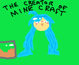 Hatsune Miku created M I N E C R A F T