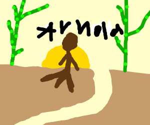 Arnold lost in a bamboo forest