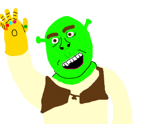 shrek with the infinity gauntlet
