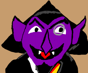 Count Dracula from Sesame Street