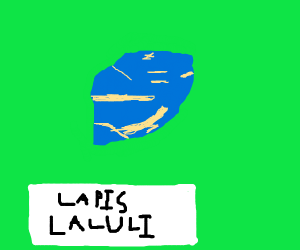 Big lapis lazuli rock