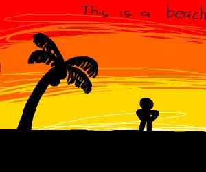 guy on a beach