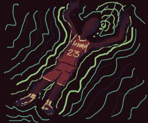 Michael Jordan does the deadman's float?