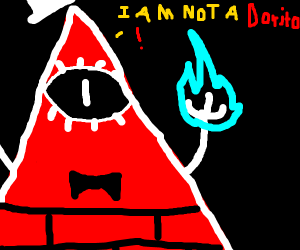 Bill Cipher is sick of being called a Dorito