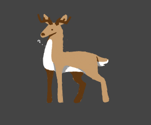 a deer is being riped out of