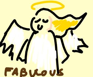A proud angel