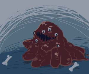 Brown slime monster