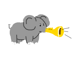 elephant with a trumpet