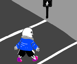 sans crossing the street